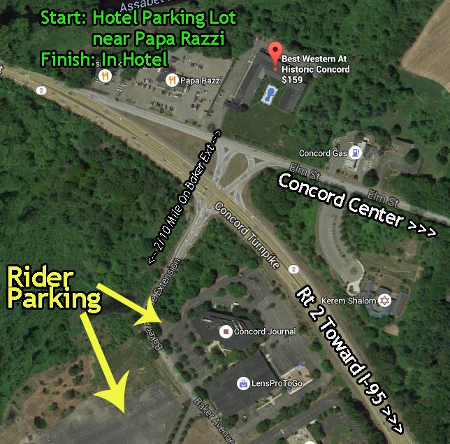 600k Start & Parking Map